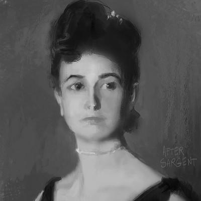 Gilles beloeil sargent woman portrait study