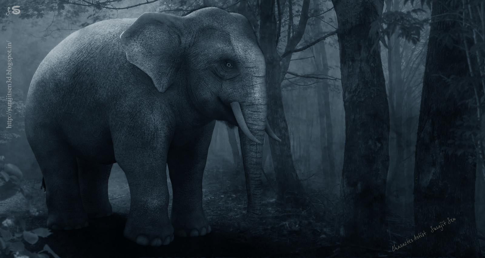 3D_Asian_Elephant_Updated_by Surajit Sen