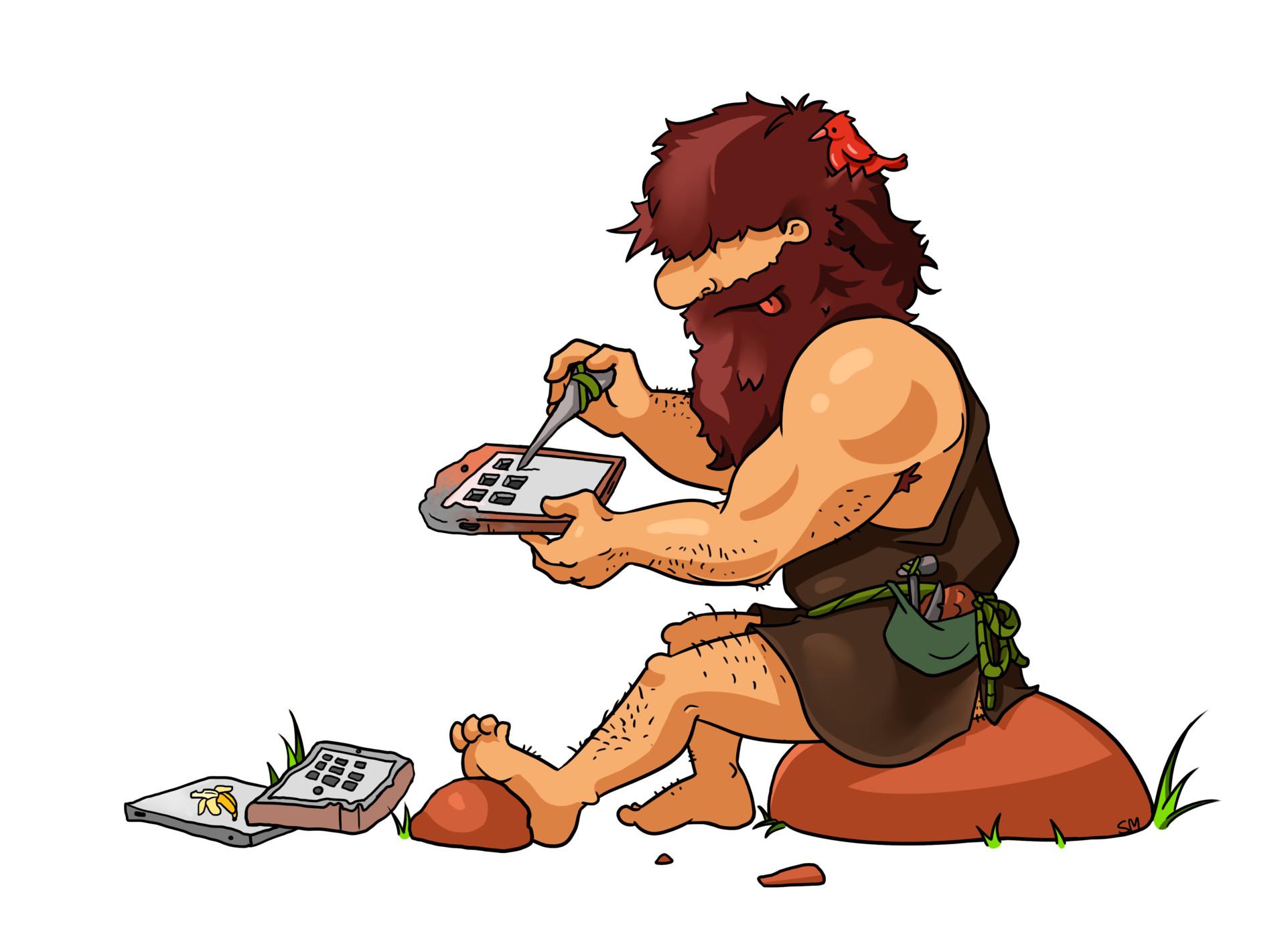Shellz art caveman programmer