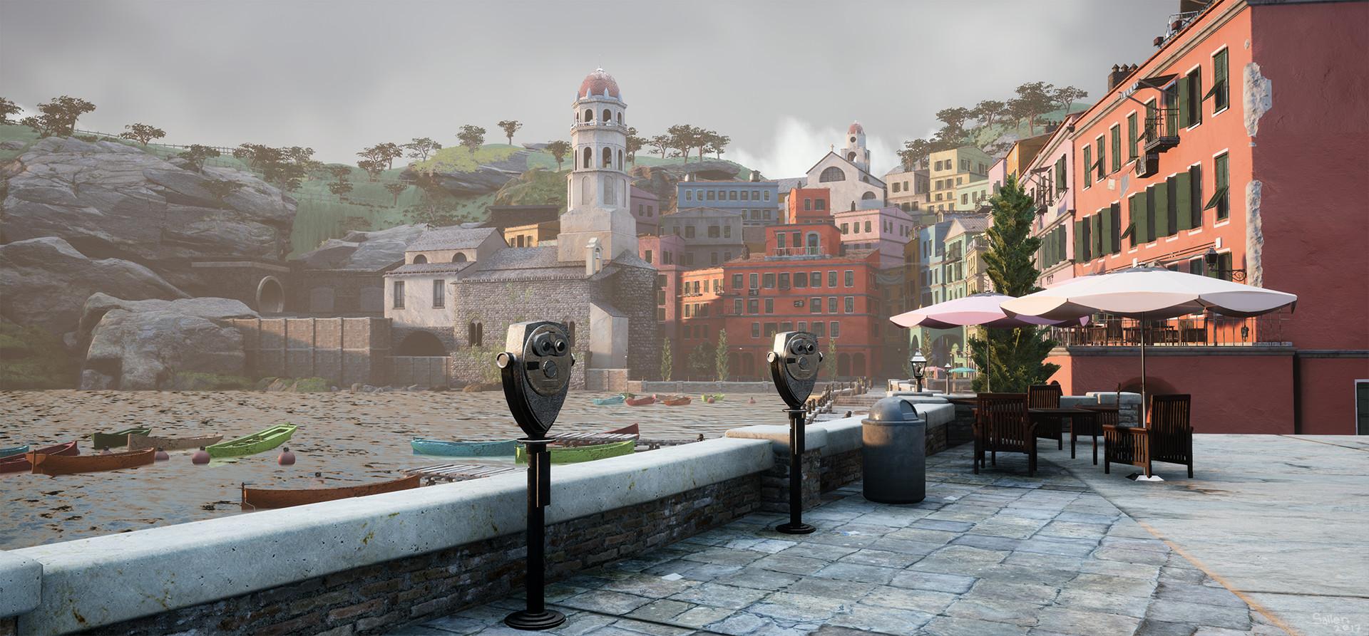 ArtStation - Cinque Terre, Italy - Vernazza Project UE4/VR