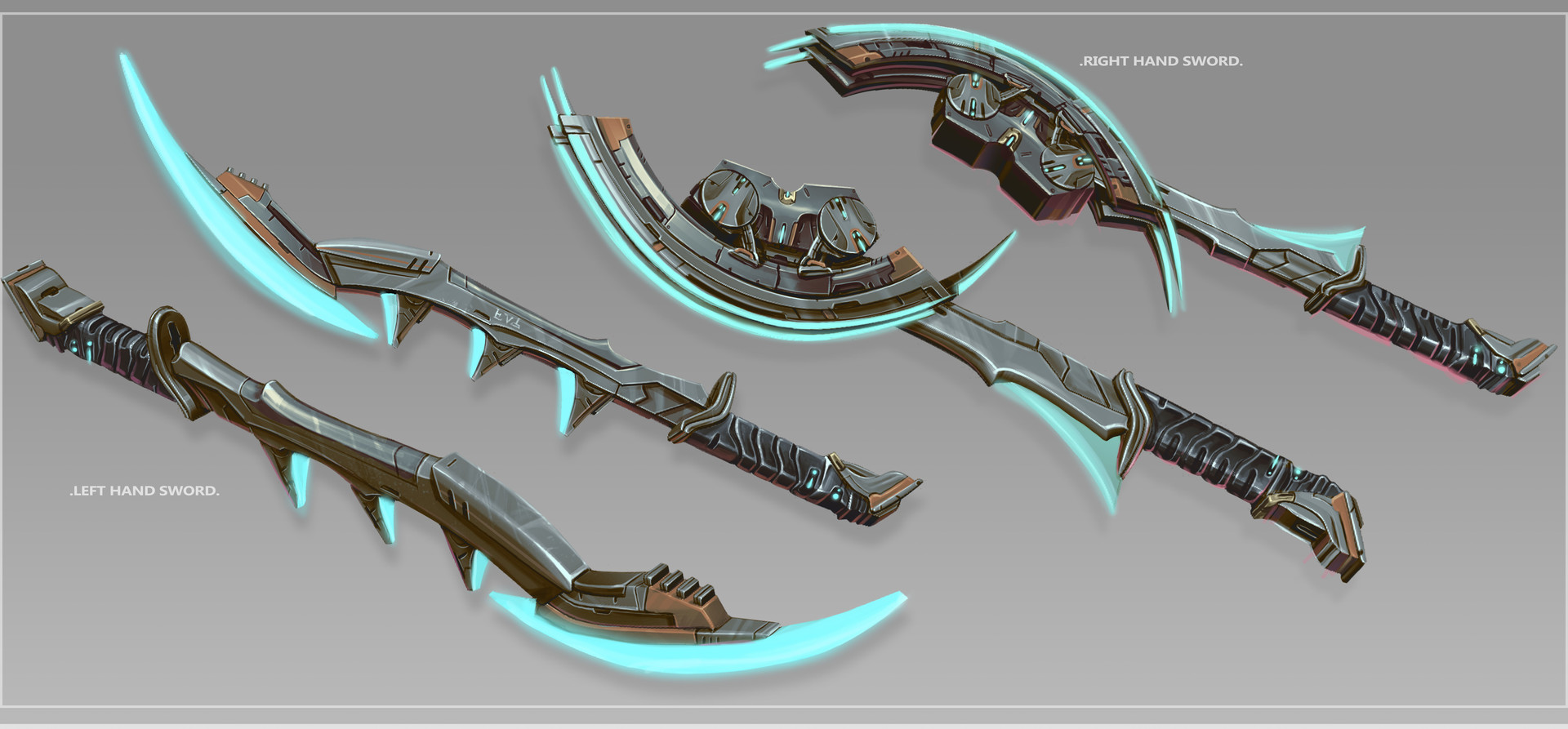 Additional Views of the unsheathed swords.