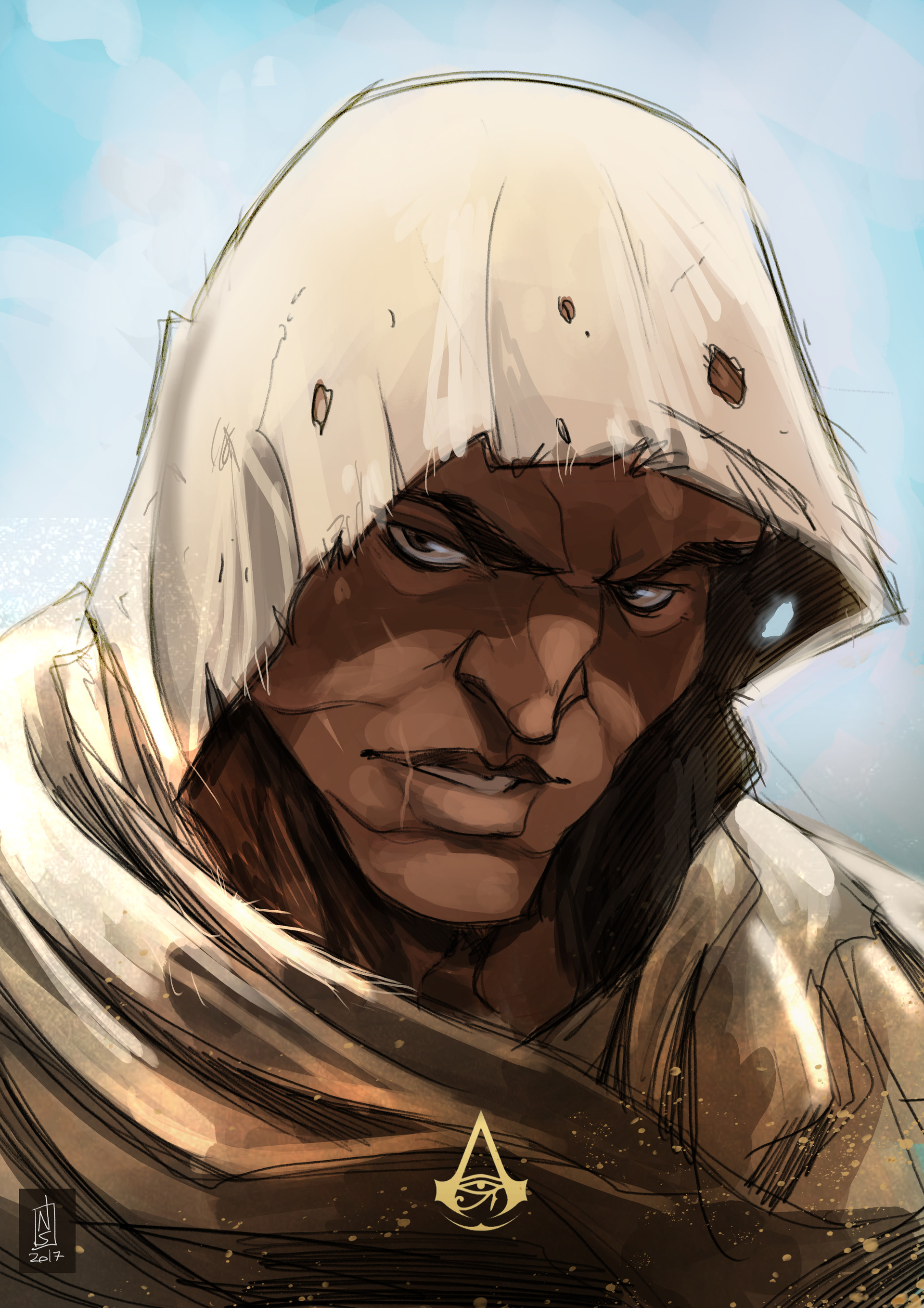Artstation Bayek Assassin S Creed Origins Sketch Nicolo Santoro