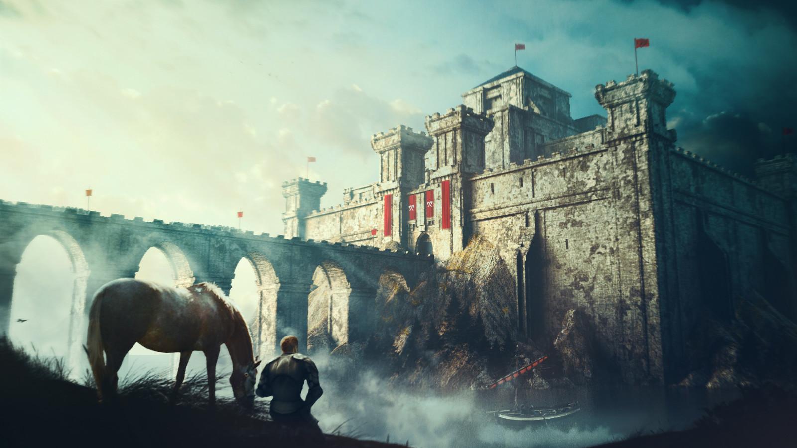 Medieval castle concept