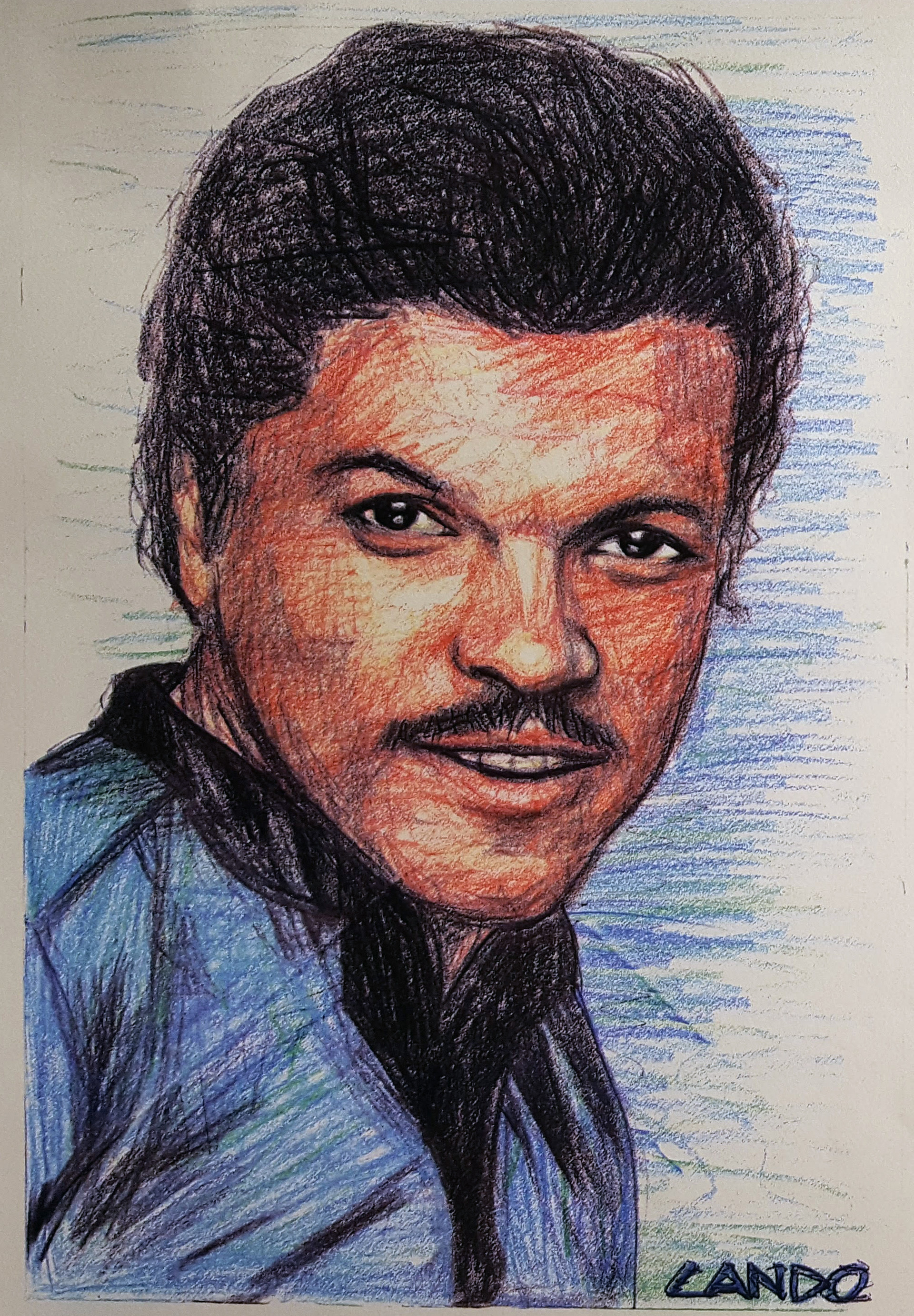 Another envelope sent to SWGC; portrait of Lando.