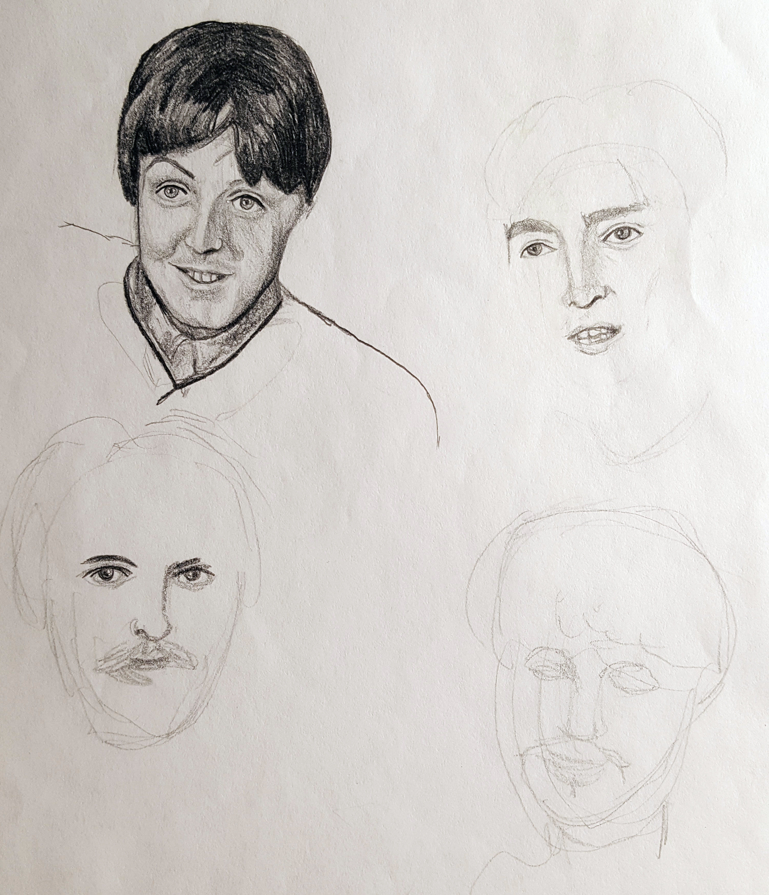 Beatles. Only Paul McCartney finished, ha.