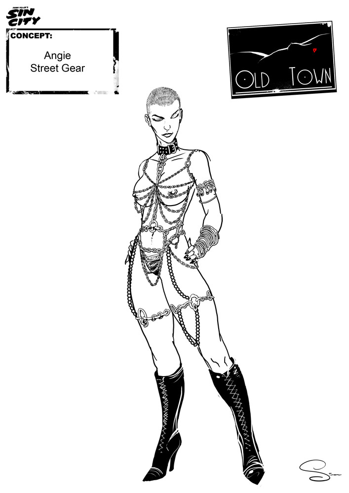 Simon lissaman sin city character concept old town angie