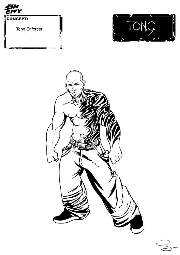 Simon lissaman sin city character concept tong enforcer
