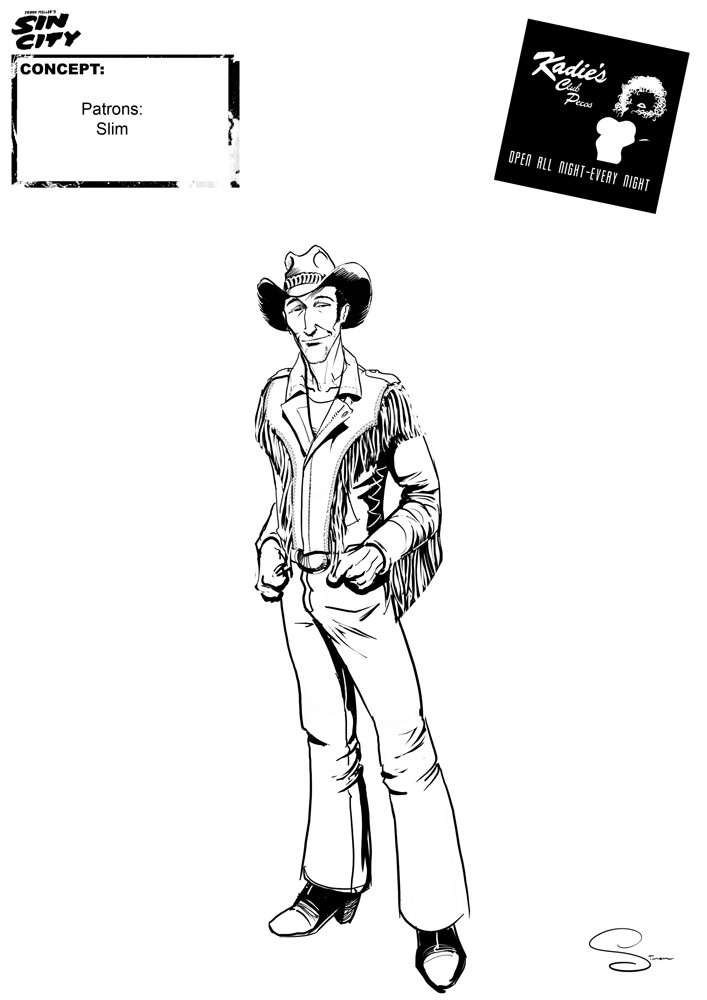 Simon lissaman sin city character concept kadie s patrons slim