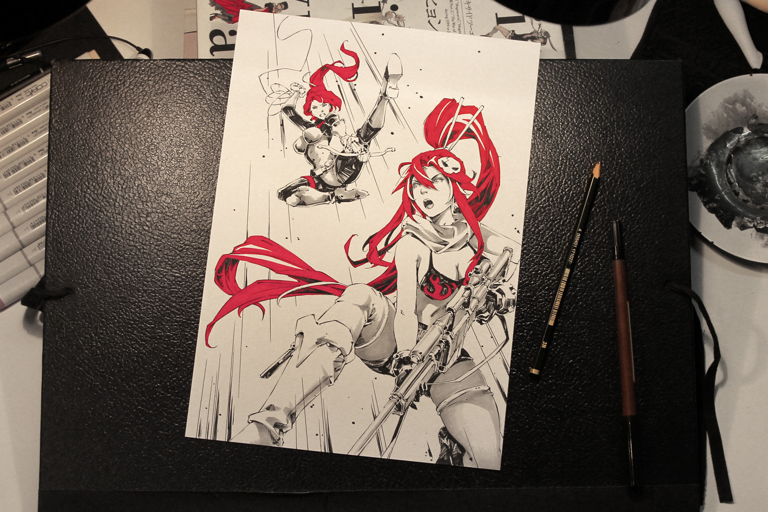 Yoko Littner VS G.I. Joe Scarlett (Client requested a pose reference to Birds of Prey #57)
