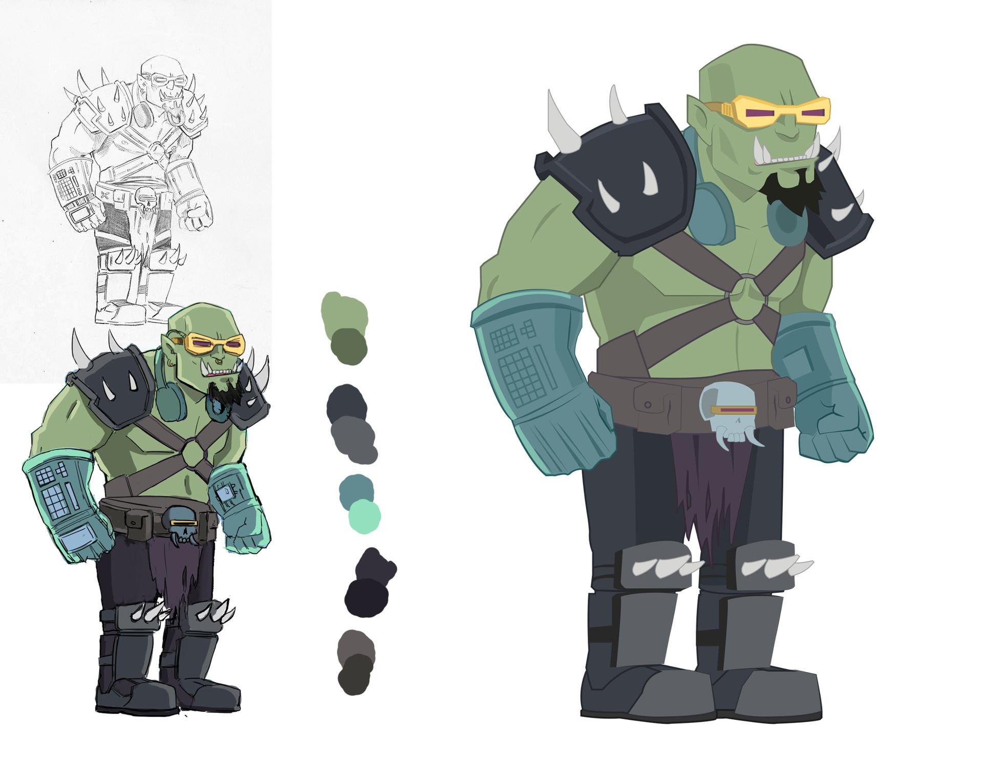 Felipe sanz sketch orc
