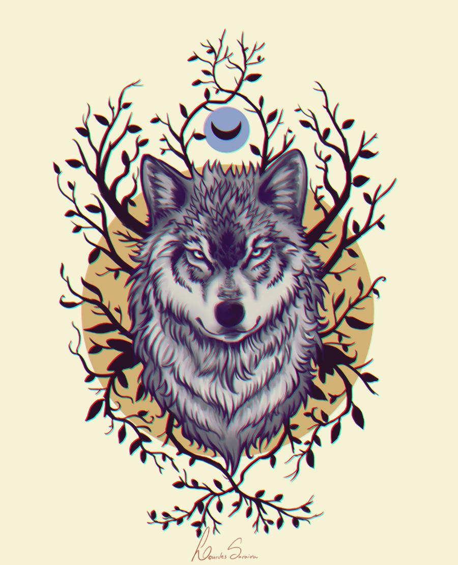 Illustration I made for a tattoo commission.