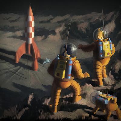 Gilles beloeil tintin on a marche sur la lune lr