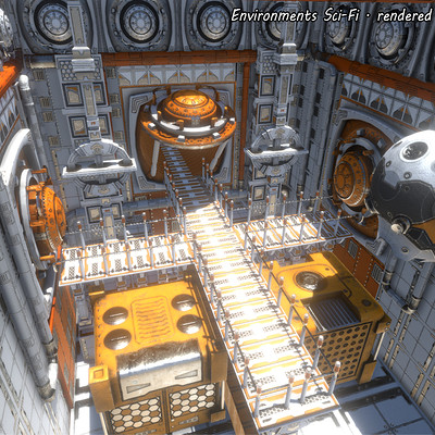 Ahmadreza khaksari environments sci fi rendered in real time unity
