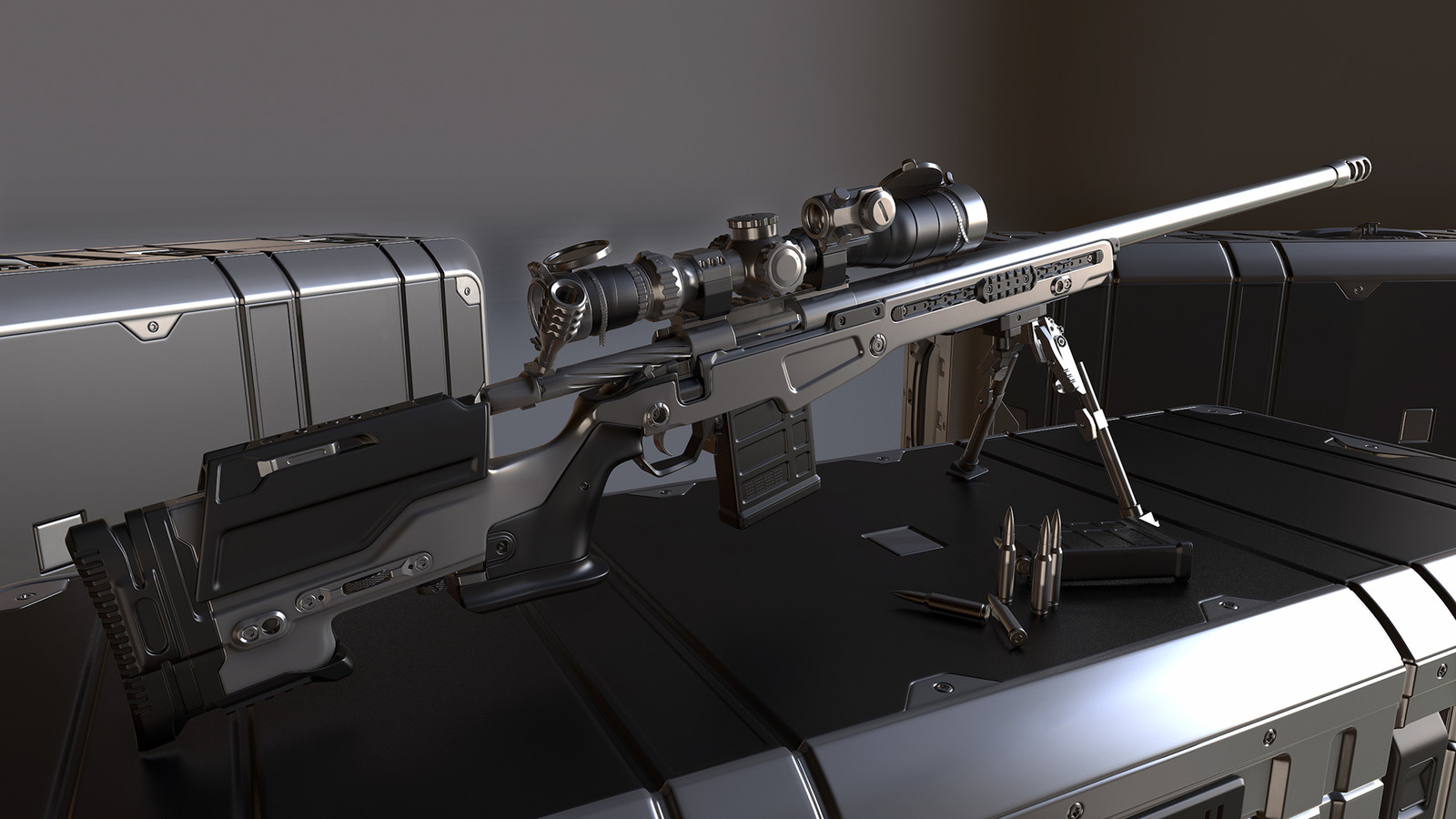 HP Sniper Rifle And Case