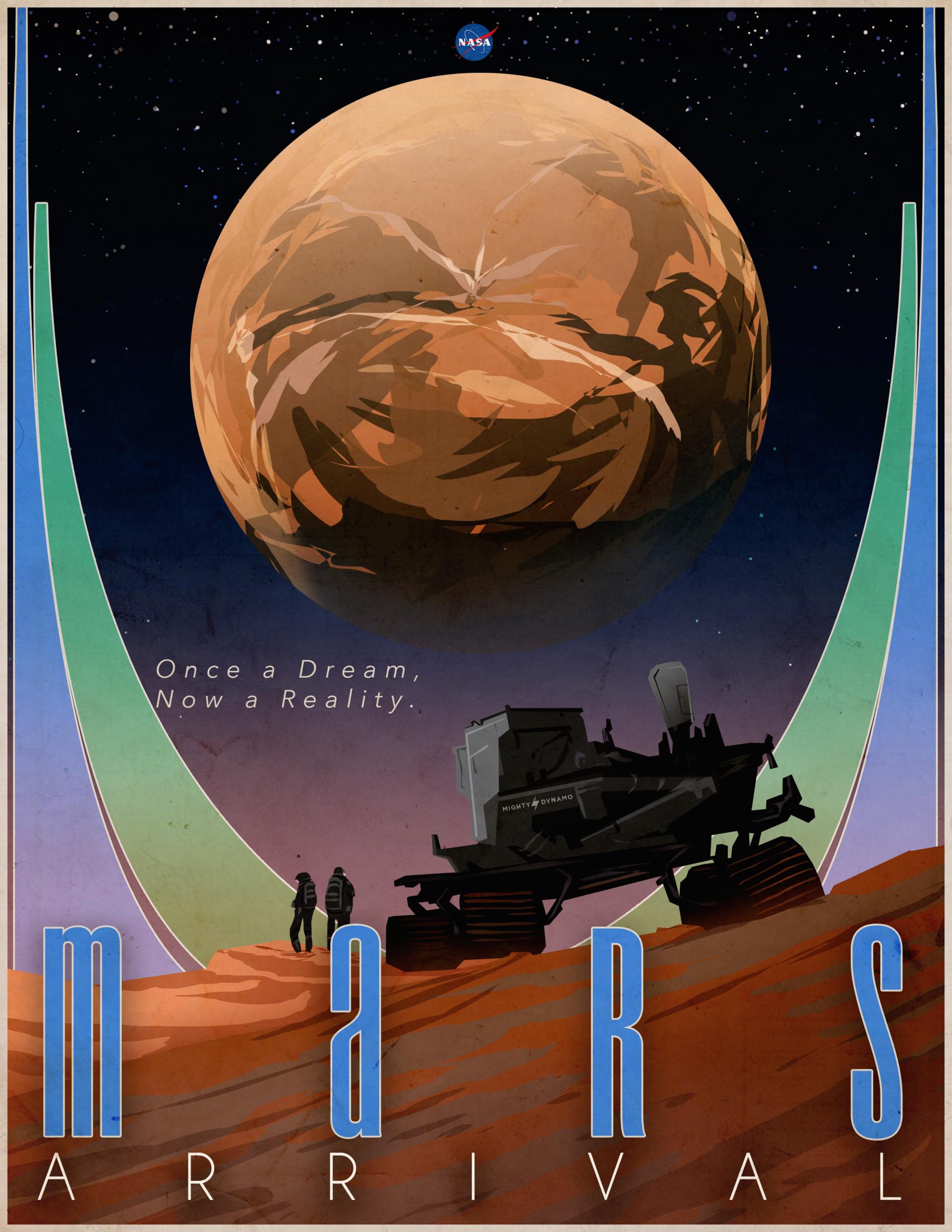 Meta olympia mars arrivals poster