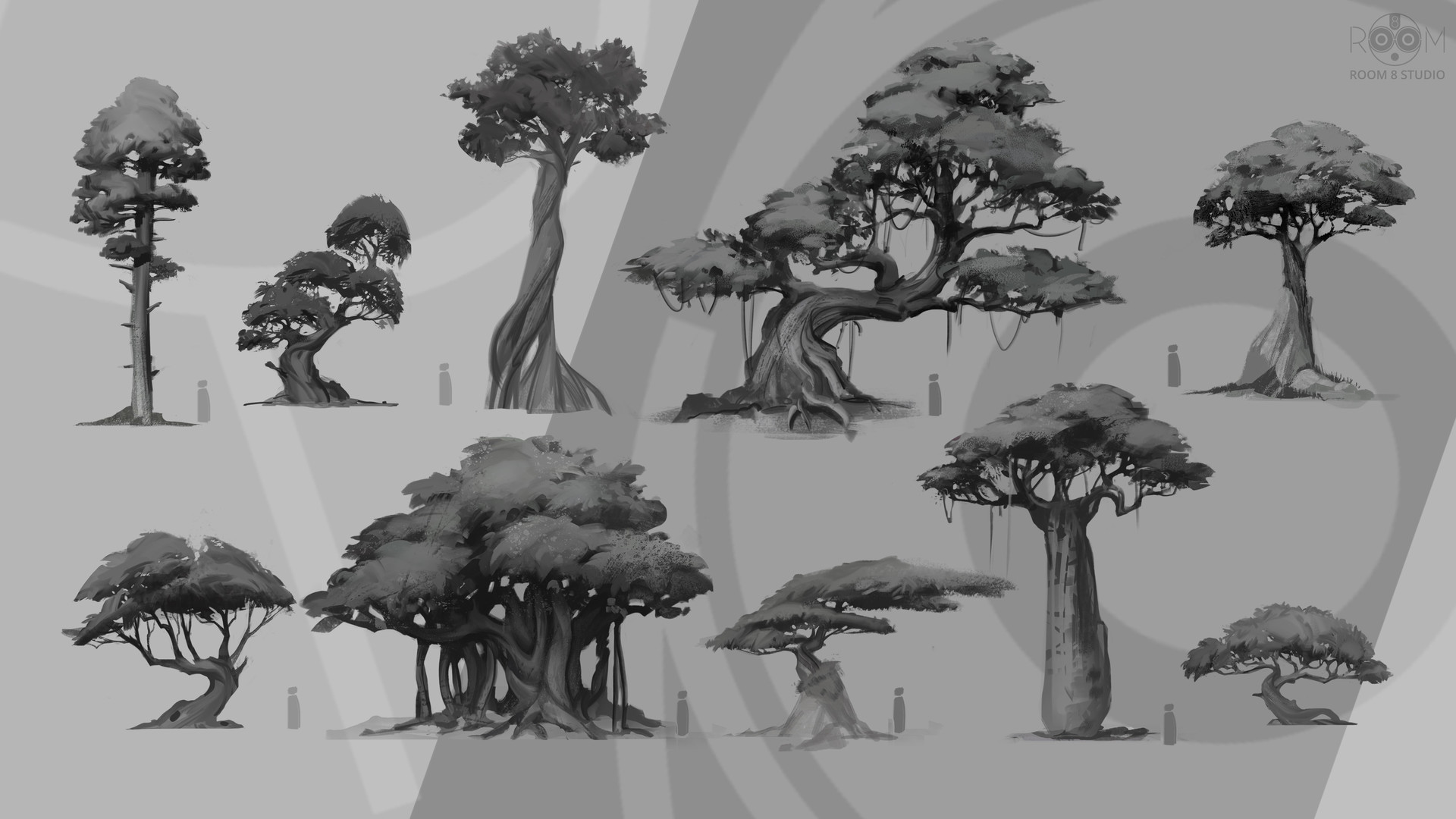 Room 8 studio trees concepts