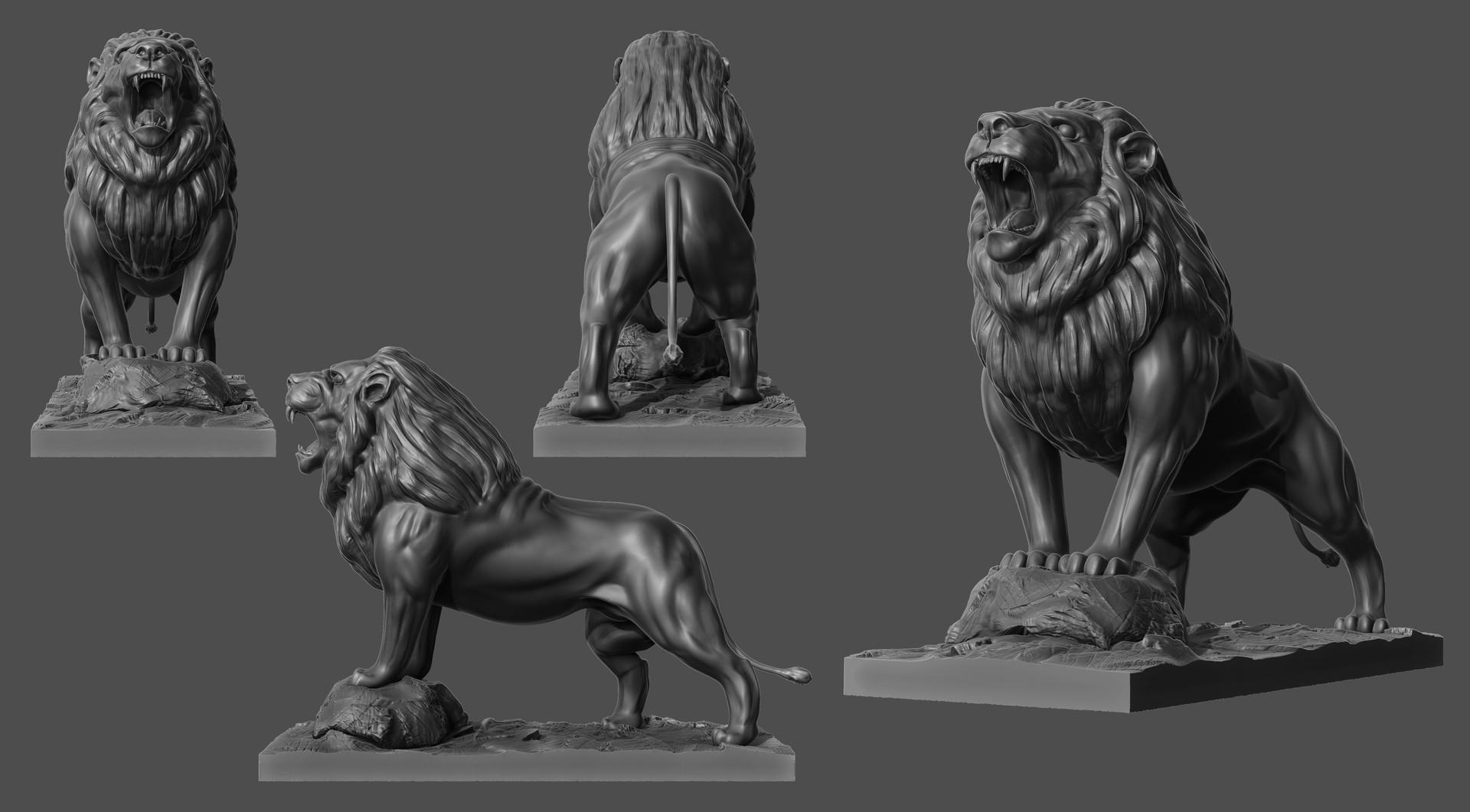 Vincent Veux - ZBrush Animals sculpting