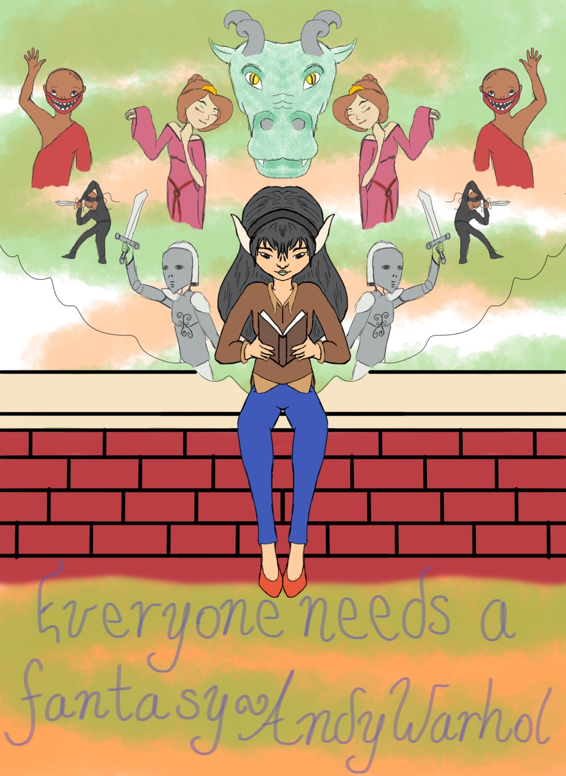Making a Difference Poster (Propaganda poster?) Theme: Reading