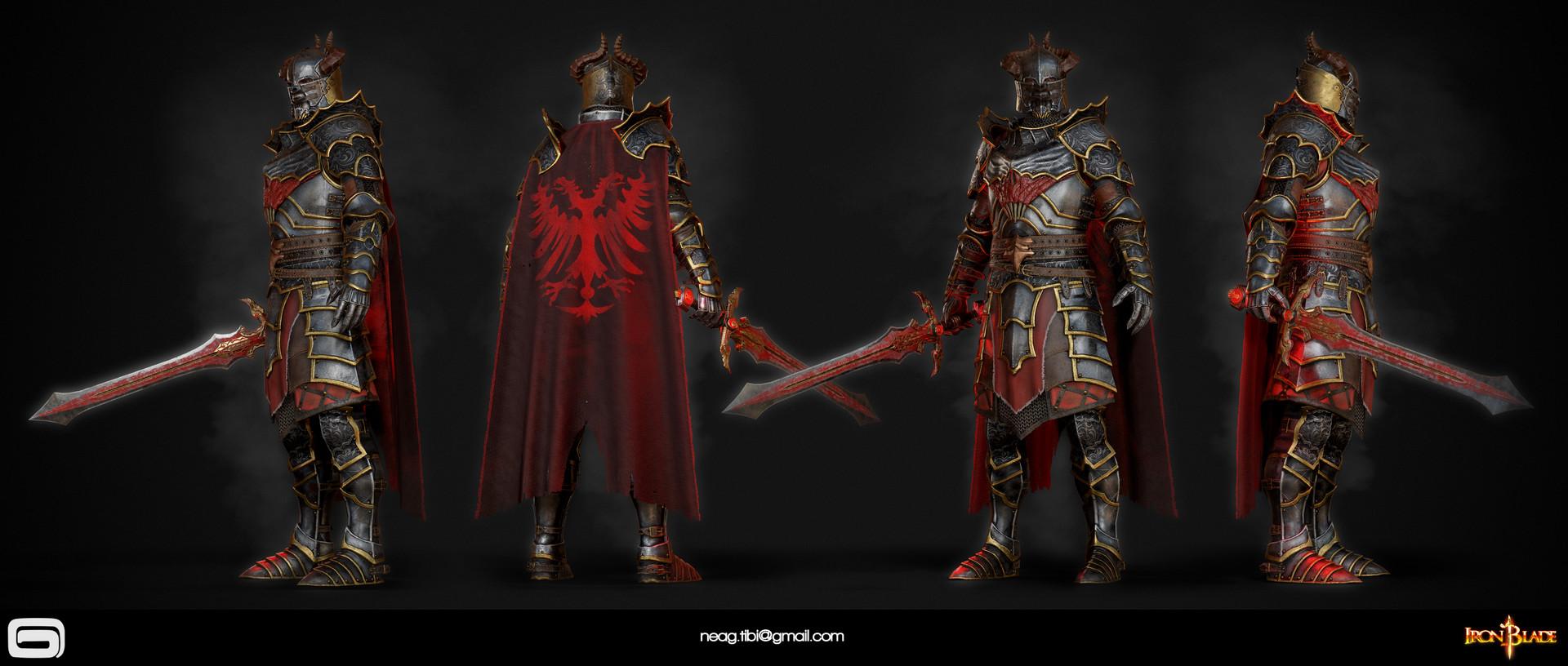 Tibi neag tibi neag iron blade mc armor 10c low poly 01