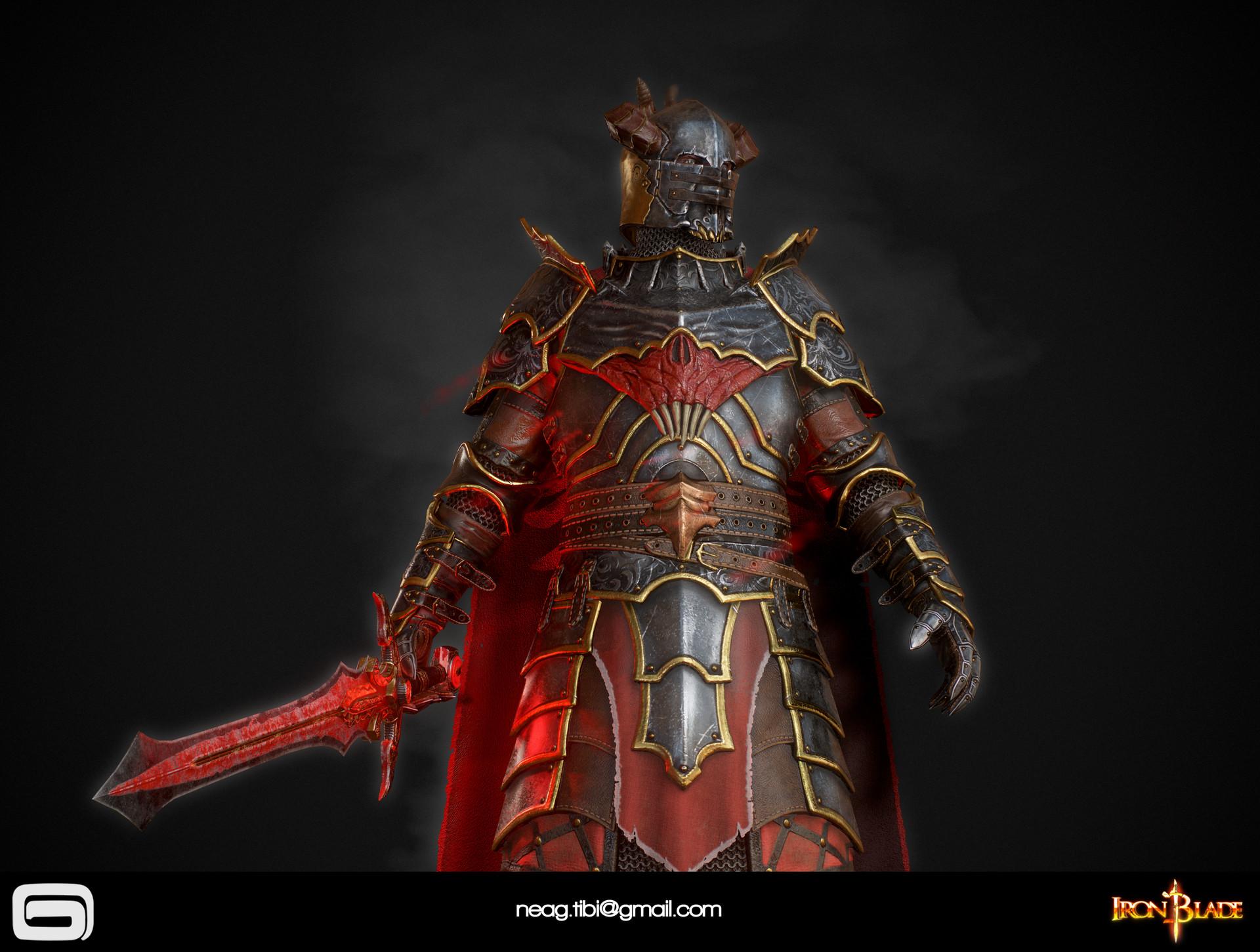 Tibi neag tibi neag iron blade mc armor 10c low poly 12