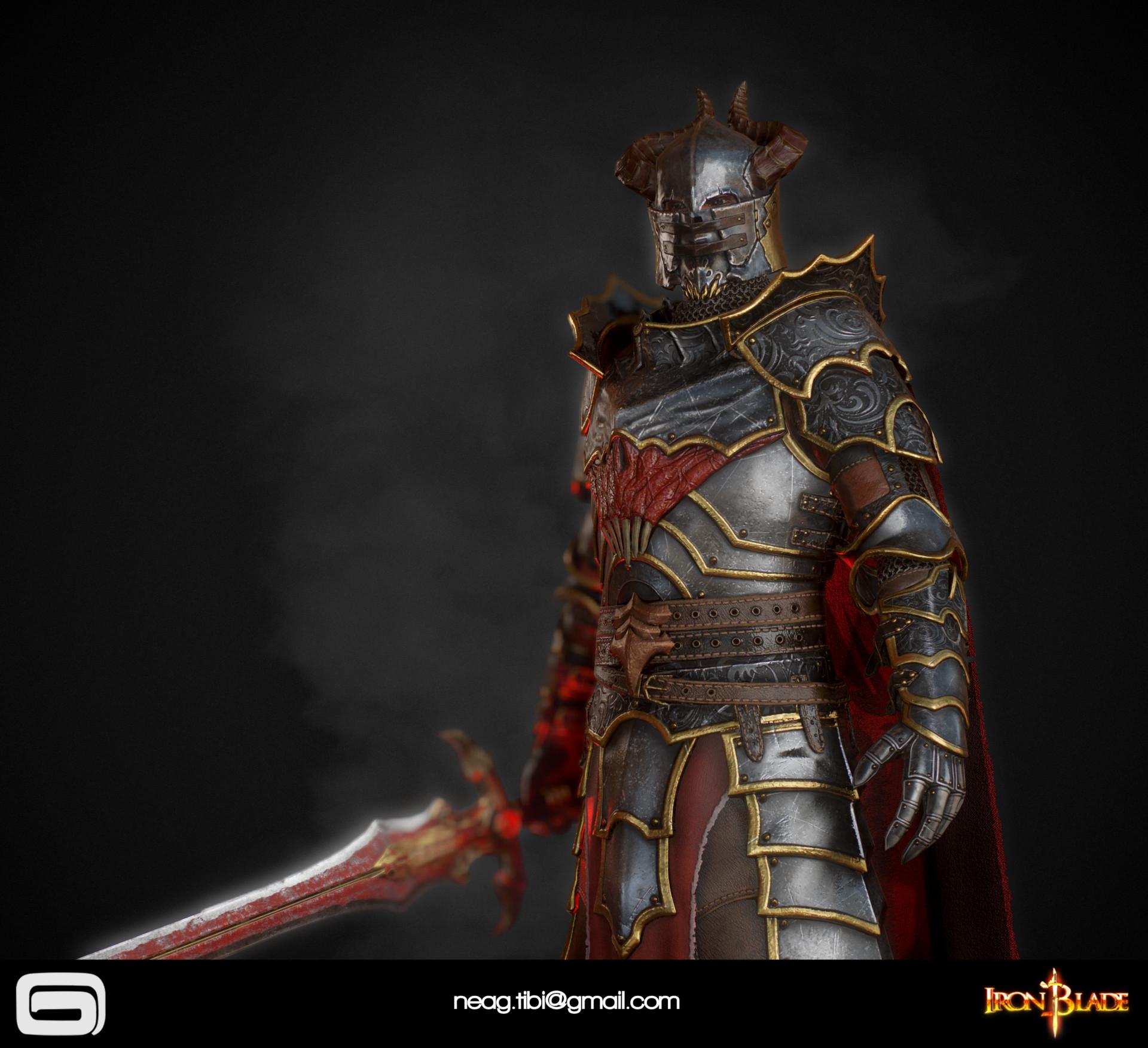 Tibi neag tibi neag iron blade mc armor 10c low poly 08