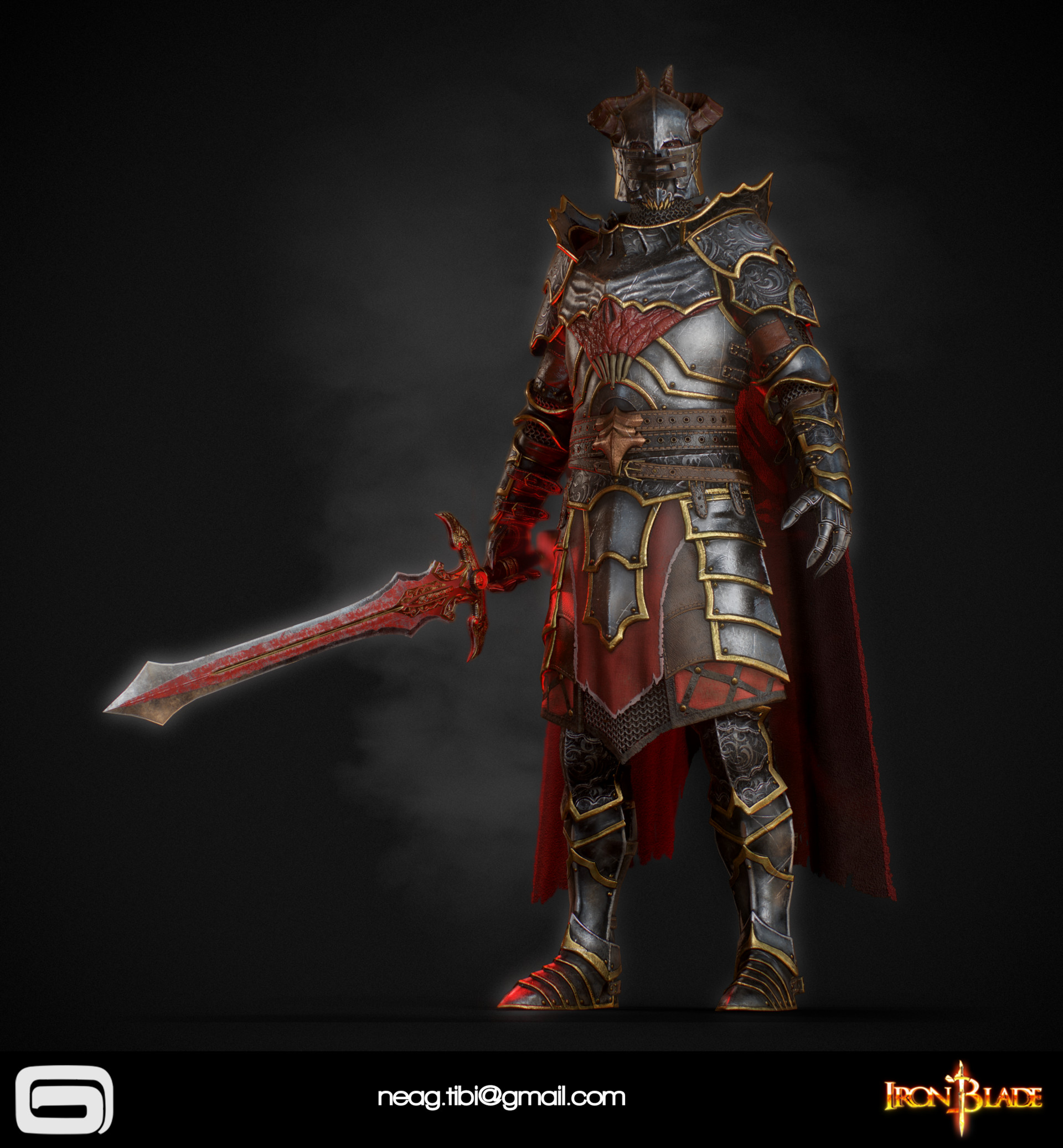 Tibi neag tibi neag iron blade mc armor 10c low poly 13
