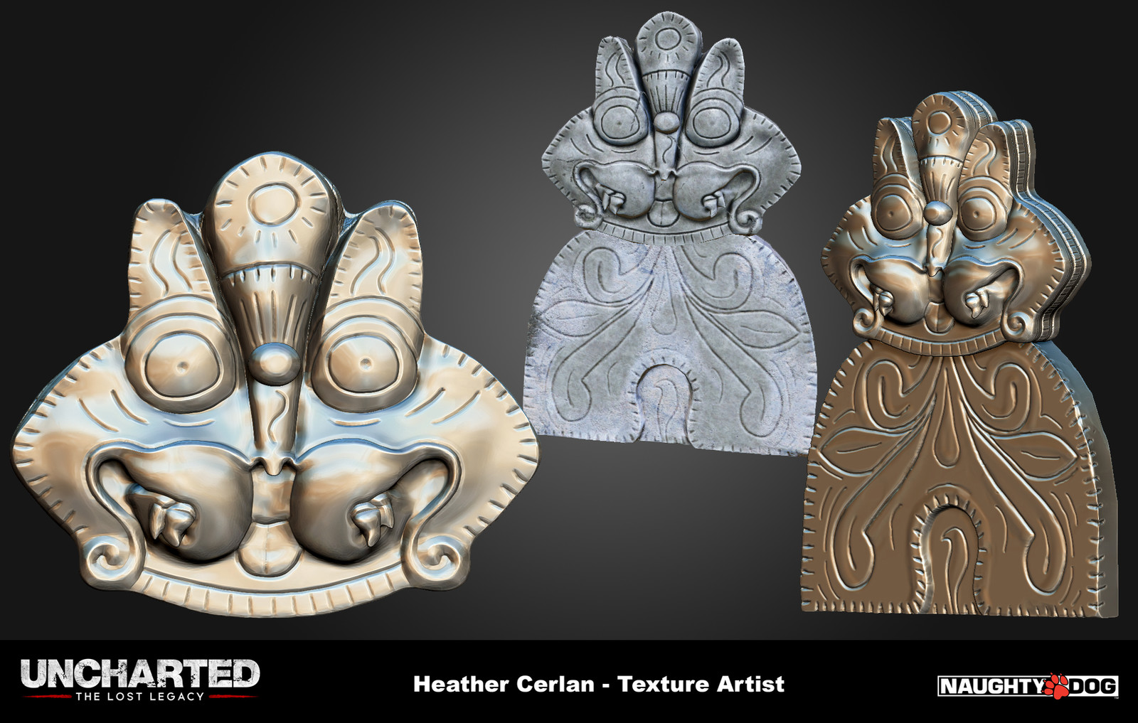 Decorative creatures based off of the Brihadisvara temple.
