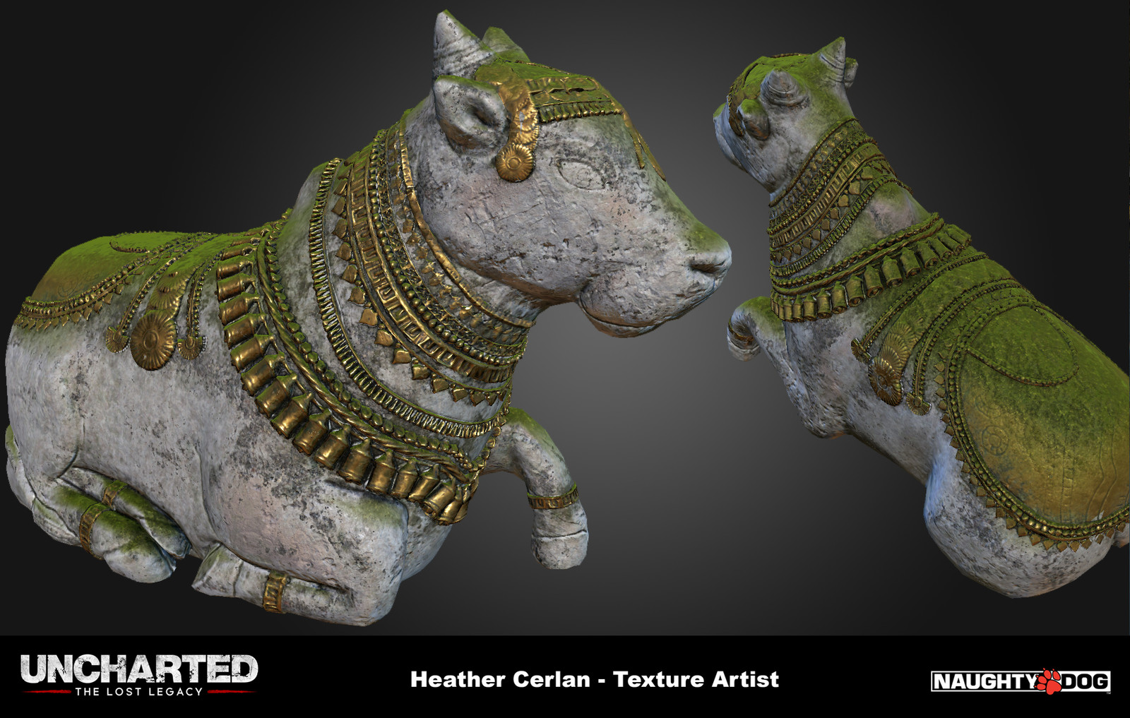 Here's the final low res mesh textured with tiling materials/textures I made.