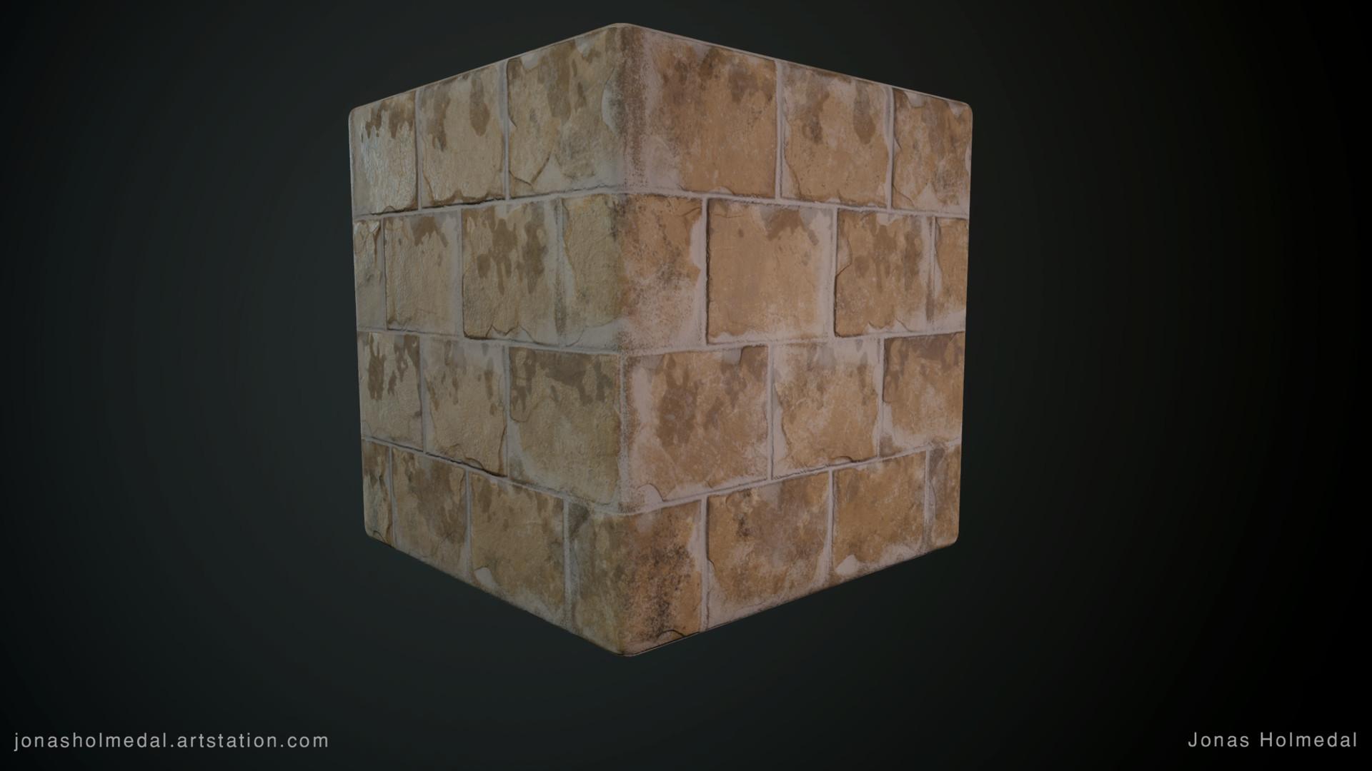 Jonas holmedal ancient plasterd bricks