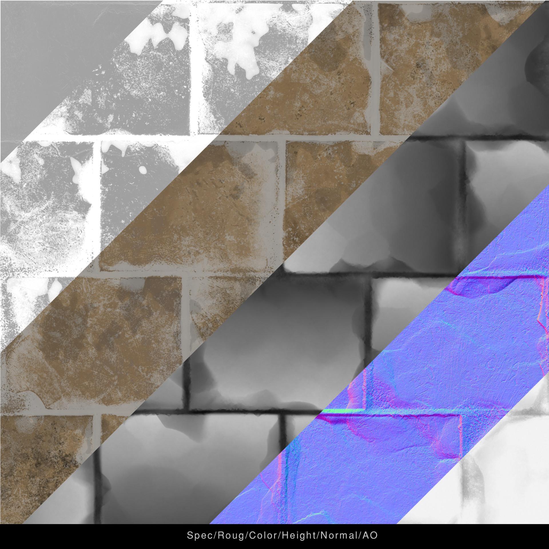 Jonas holmedal breakdown texture ancient brick plaster