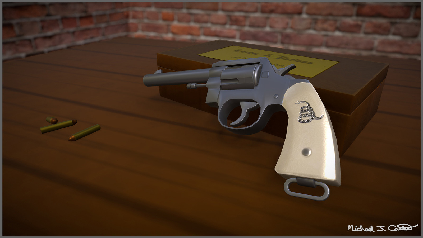 Single Action Revolver Model Using PBR Materials