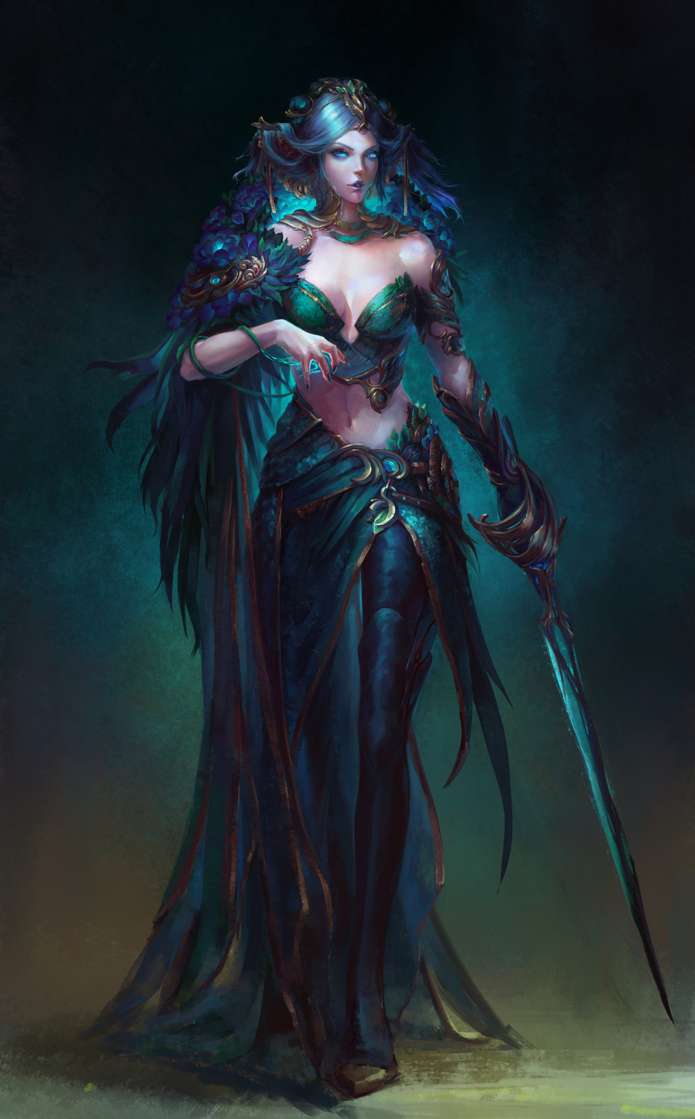 """Priestess of the cult ''damned peony""""."""