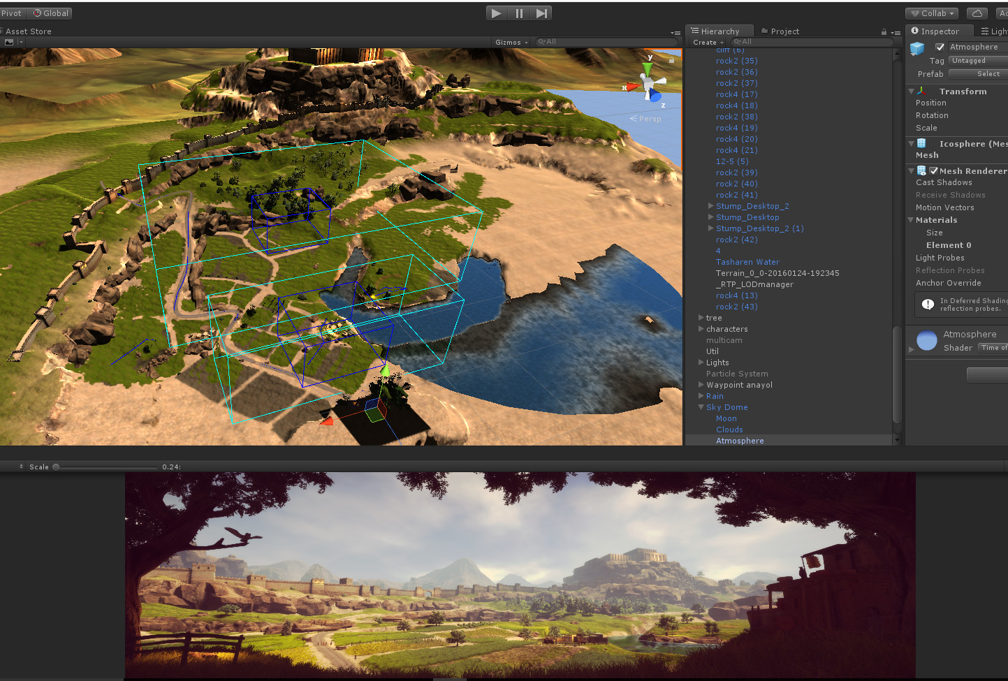 Unity scene from different angle