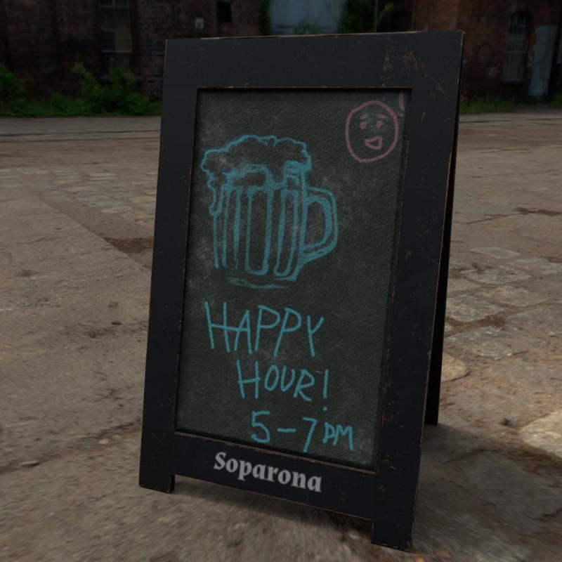 Bar Chalkboard Sign