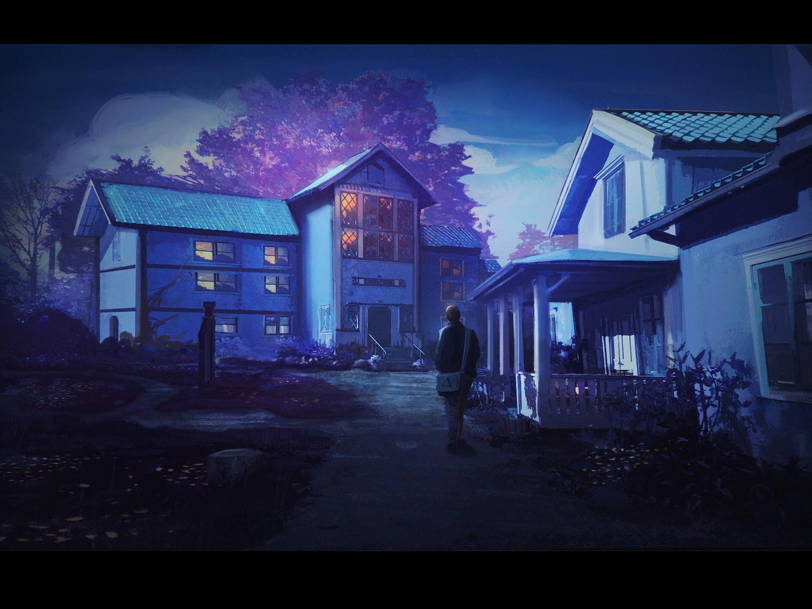 Cyan houses