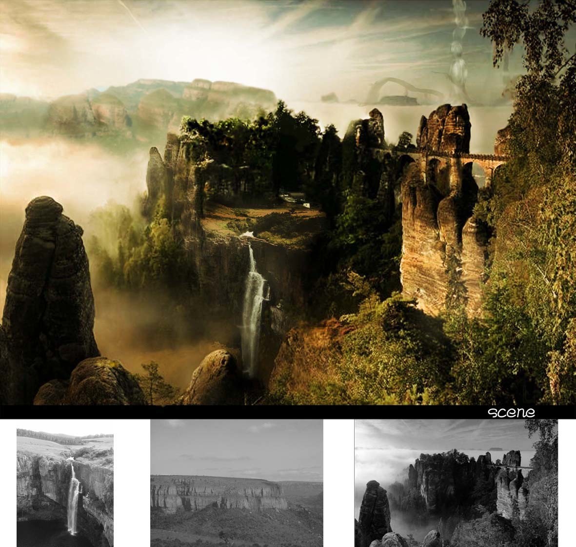 old work matte painting