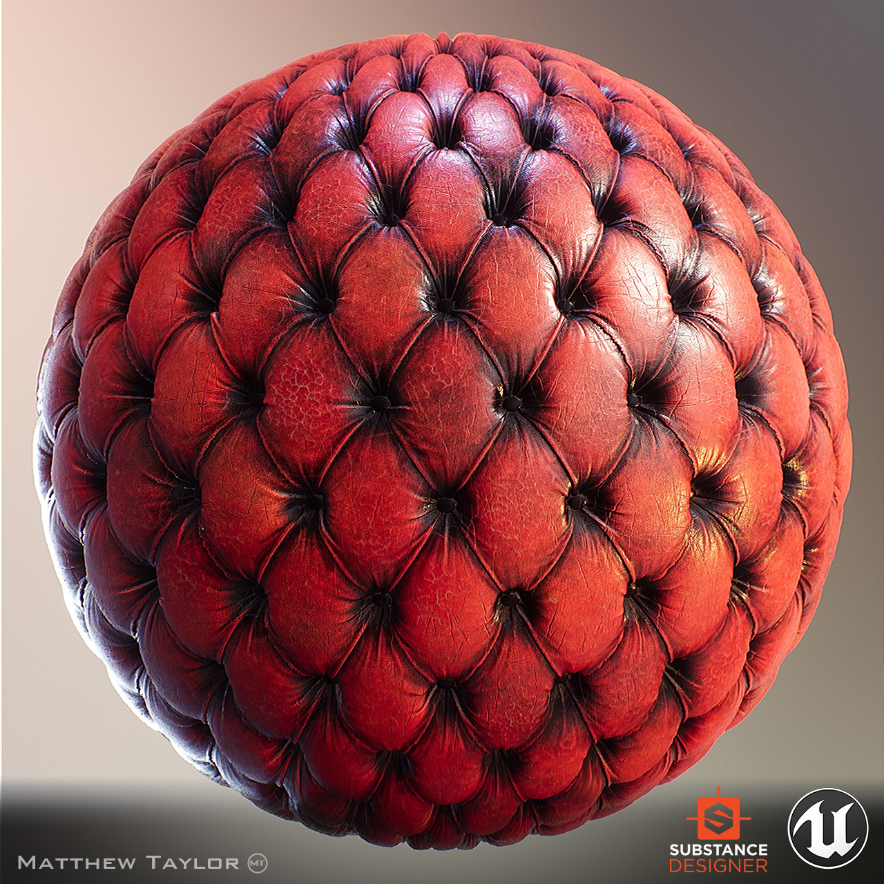 Sphere with repeating pattern.