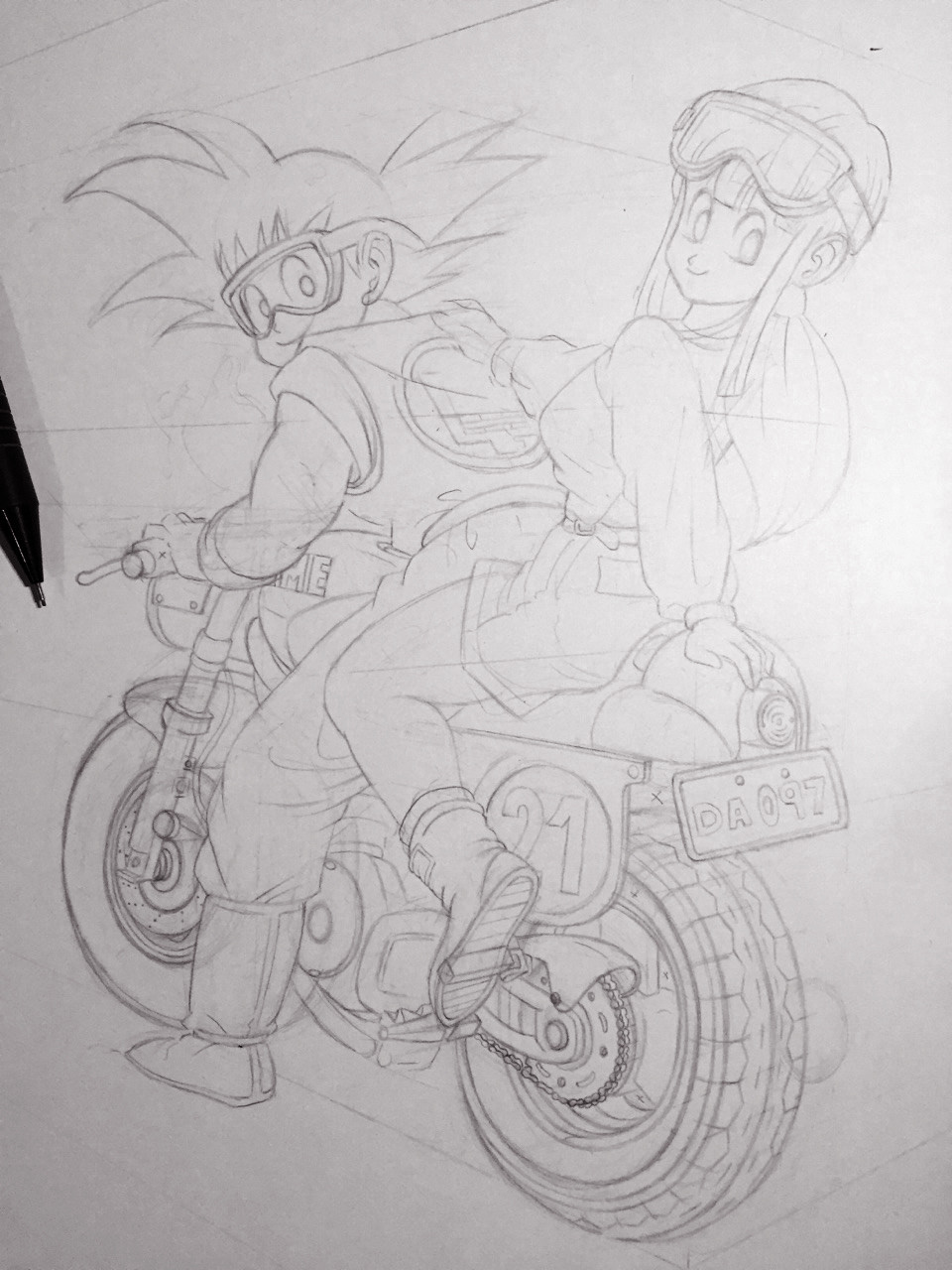 Pencil sketch. Ready for inks.