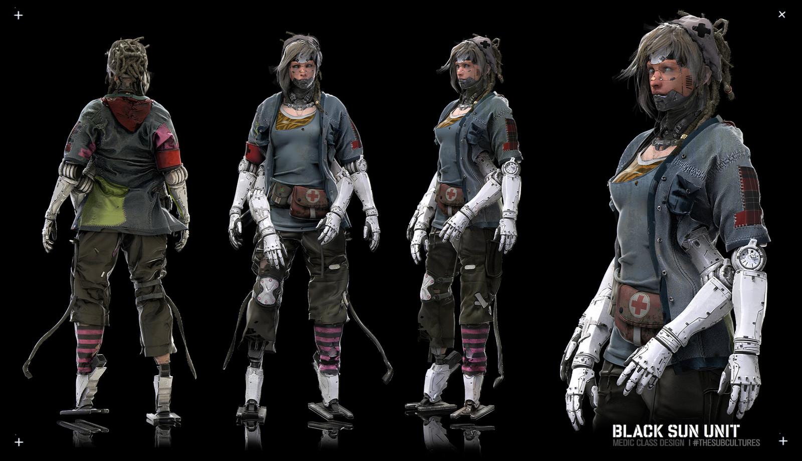 Cyberpunk Medic Mech