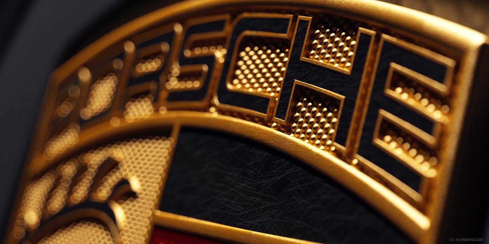 Porsche Emblem Render
