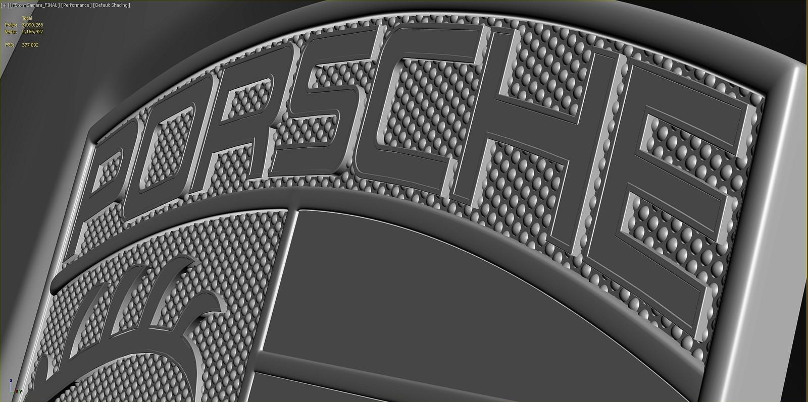 Porsche Emblem Render - Clay
