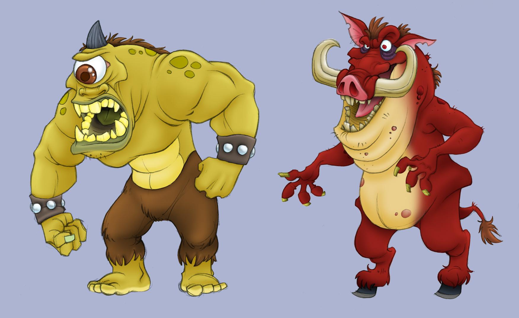 Artstation Rampage Character Designs Steve Merghart