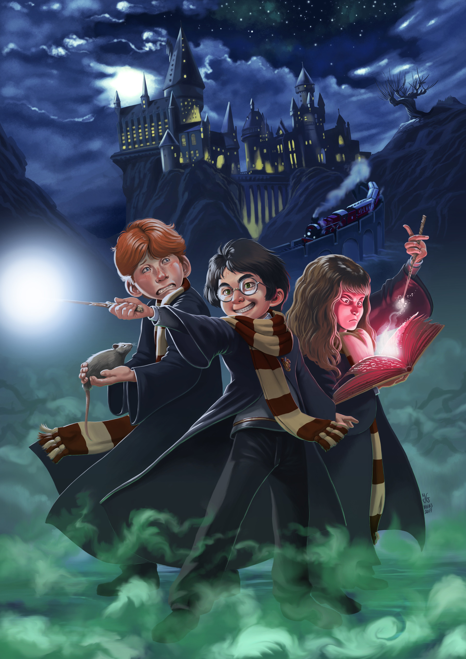 ArtStation - Fanart: Harry Potter, J G  Miedes