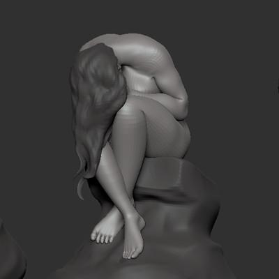 WIP 3d sculpt inspired by Oskar Garvens called le Repentir