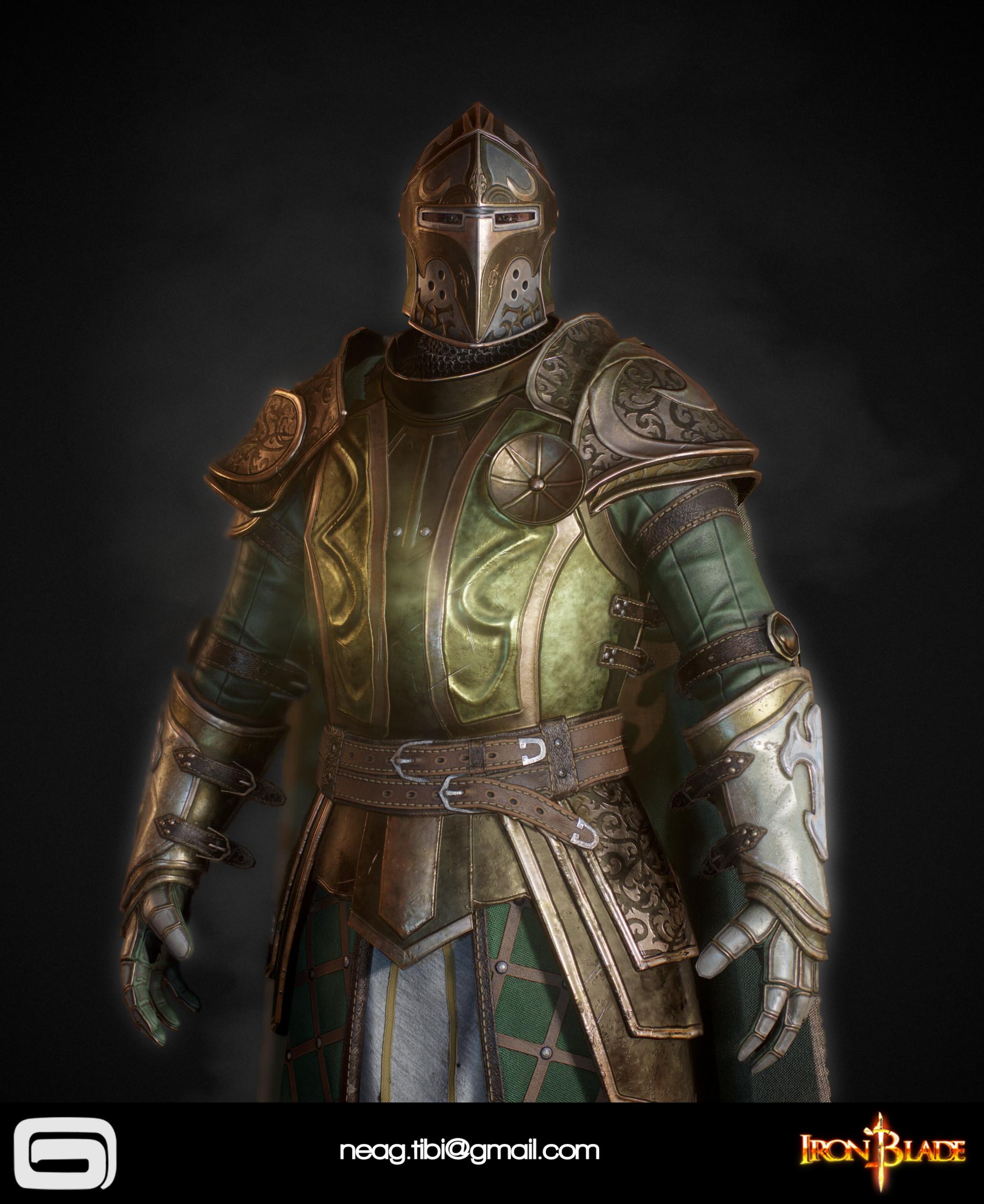 Tibi neag tibi neag iron blade mc armor 14b low poly 05