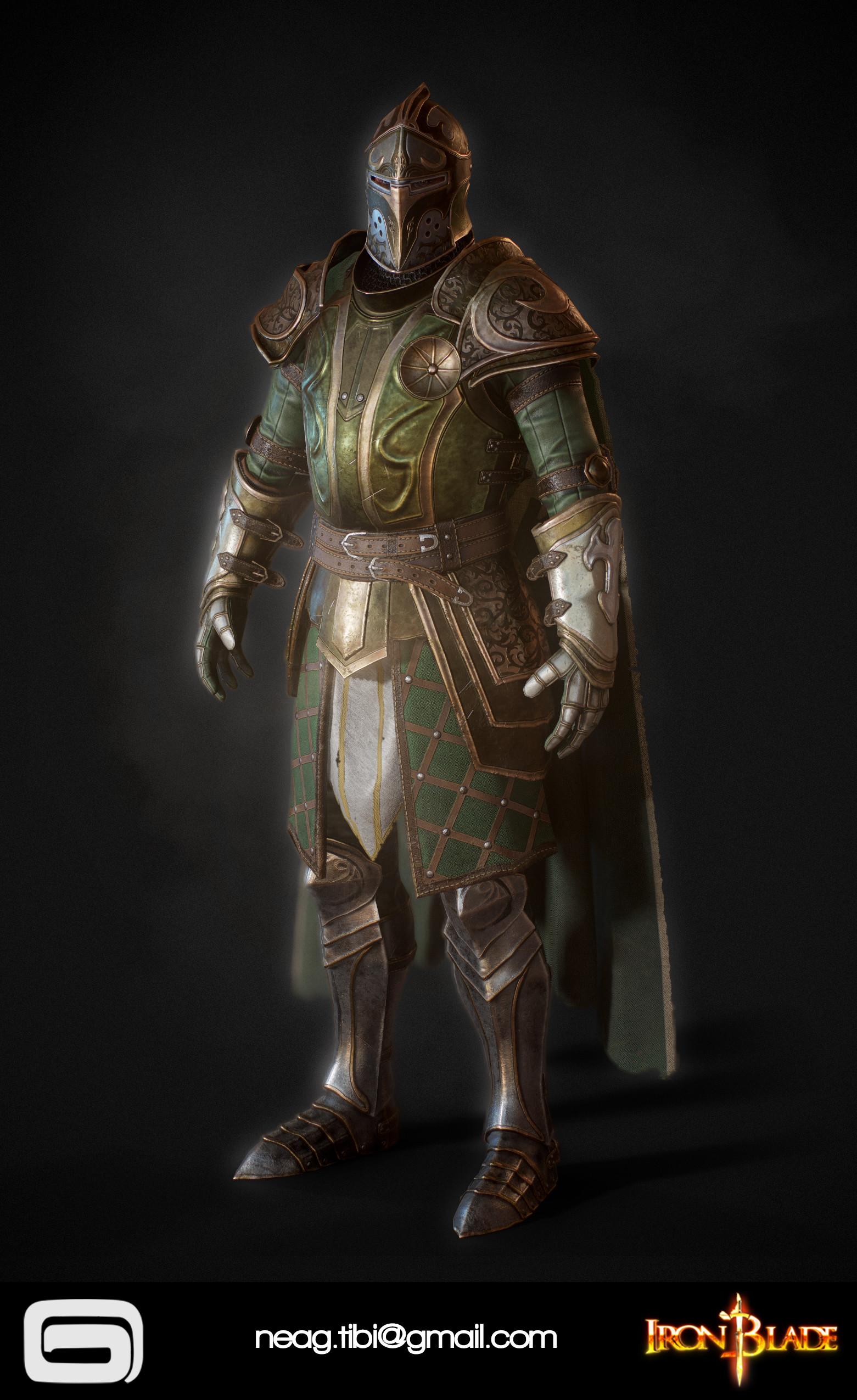 Tibi neag tibi neag iron blade mc armor 14b low poly 06