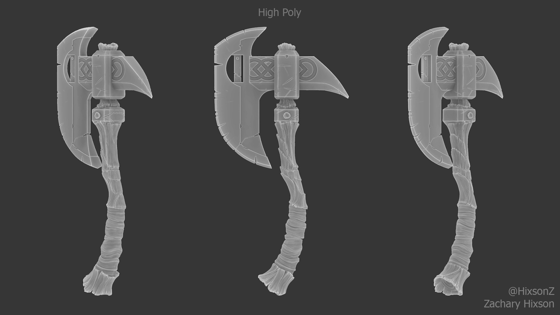 High poly sculpt done in 3D Coat
