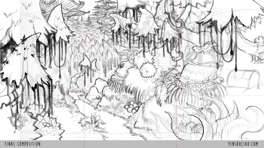 Yen shu liao environment concept art yen shu liao mushroom forest 006