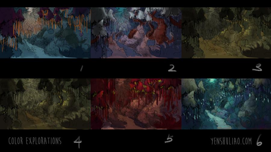 Yen shu liao environment concept art yen shu liao mushroom forest 008