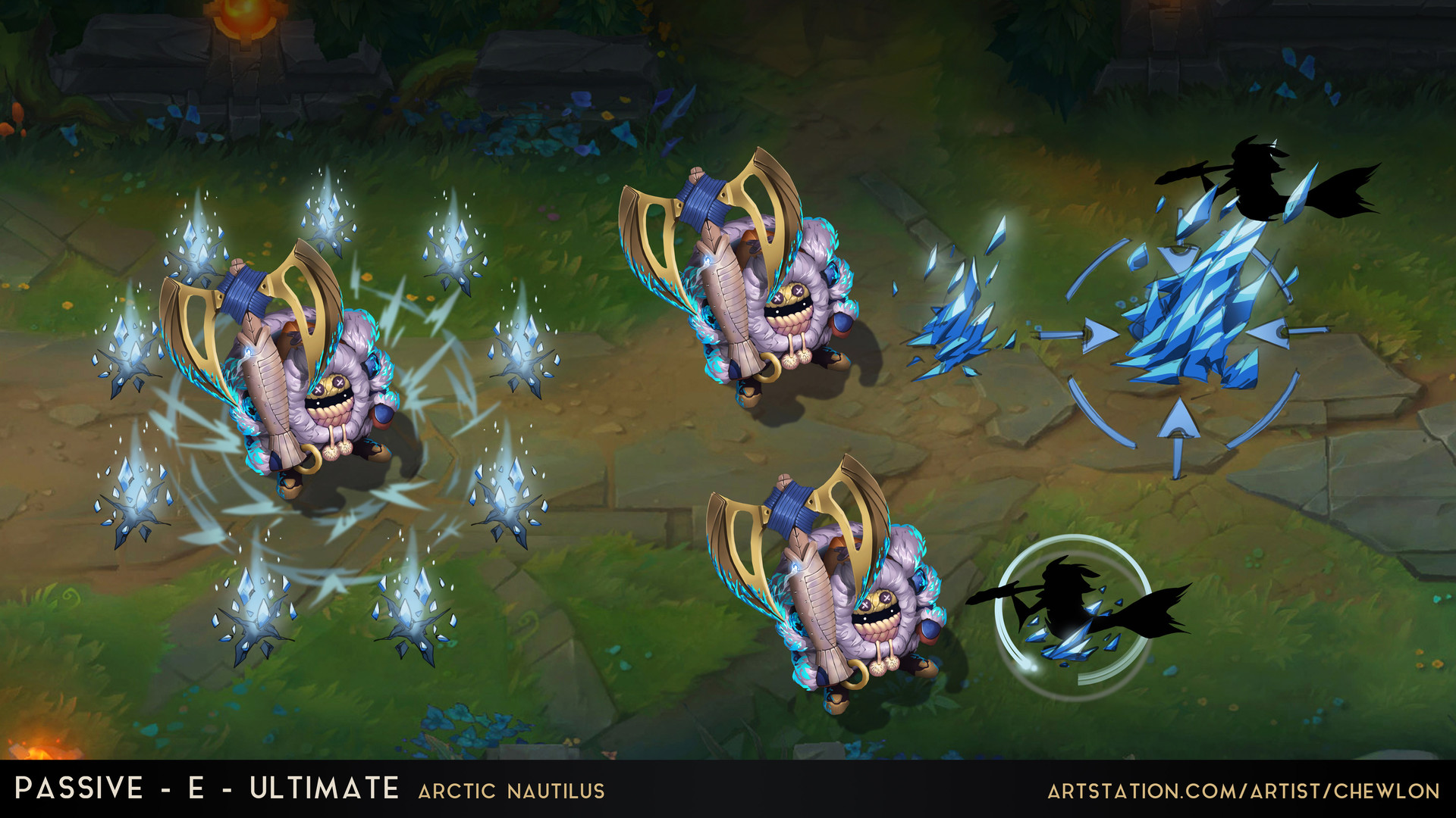 ArtStation - Arctic Nautilus - League of Legends Fan Skin